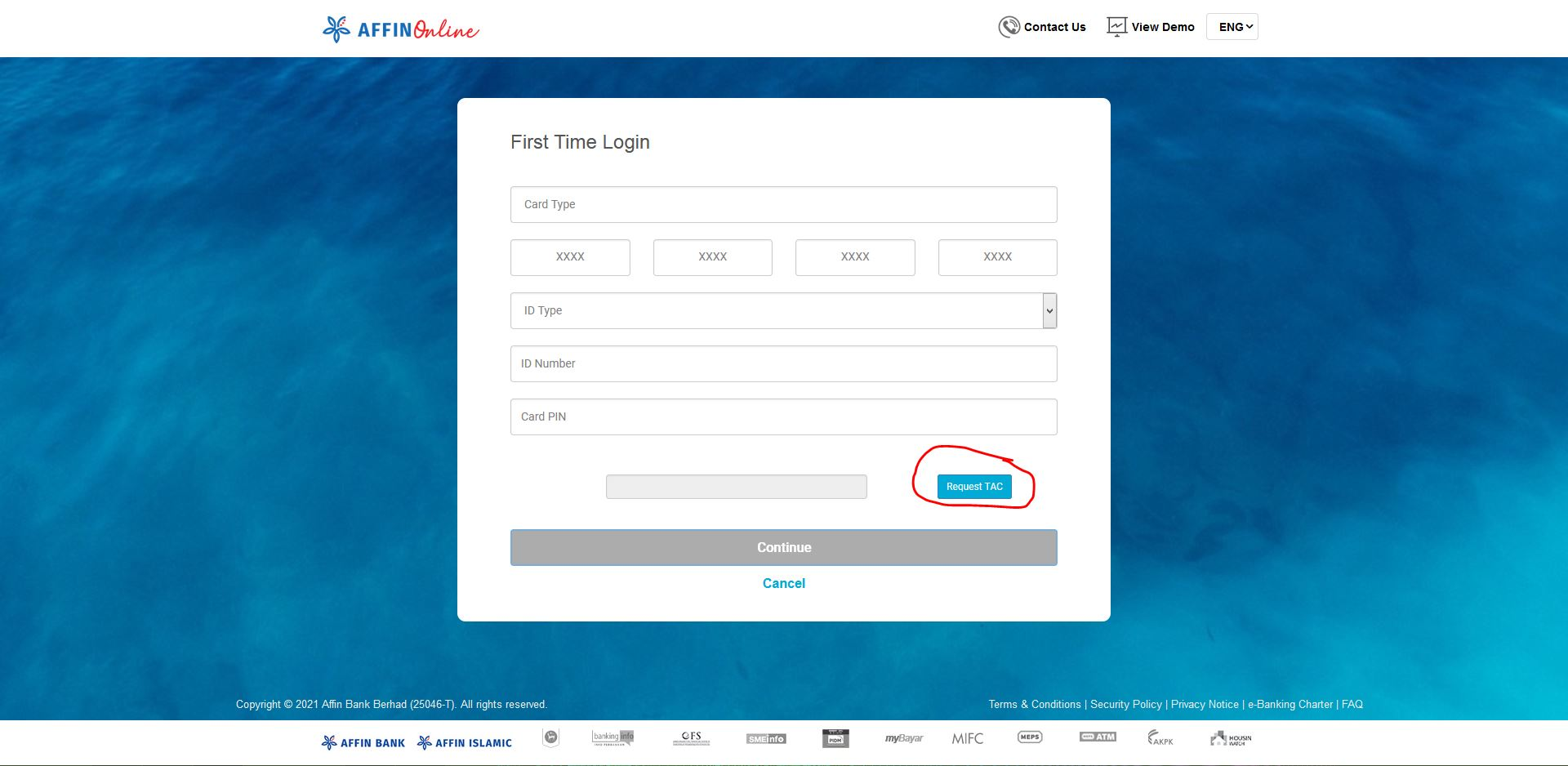 How to Login First Time in Affin Bank Online Banking using AffinOnline