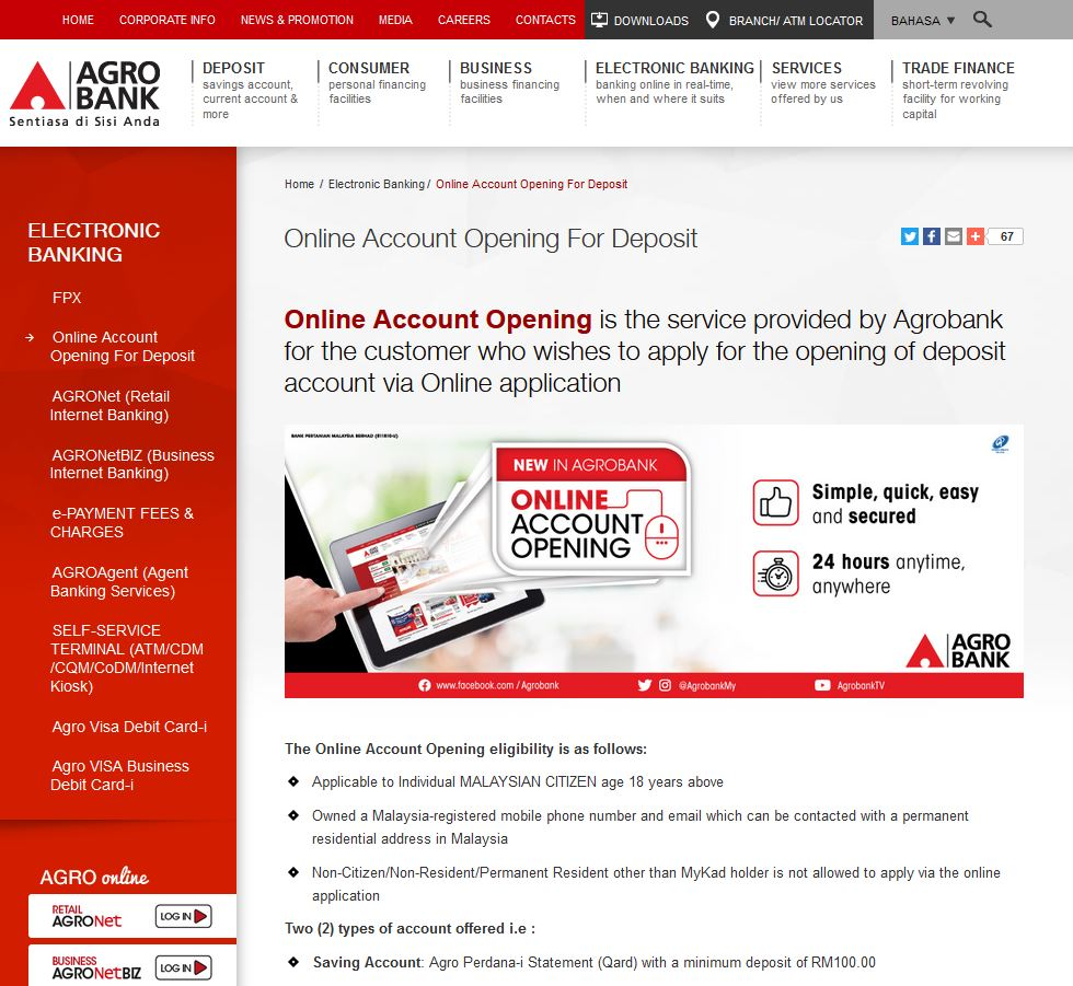 How to Open AgroBank Account via Internet Banking