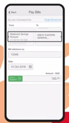 How to Pay OCBC Credit Card using Mobile Banking Application