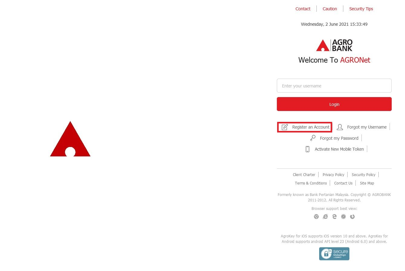 How to Register Agrobank Online Banking via Internet Banking Payment